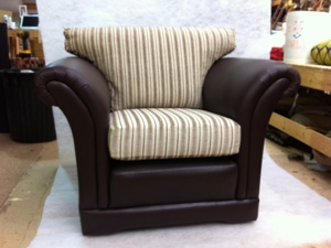 Half Leather Half Fabric Dorchester Chair Ralvern
