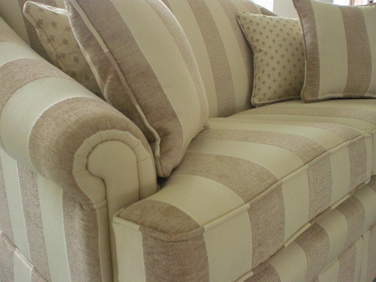 re upholstery in jim dickens stripe