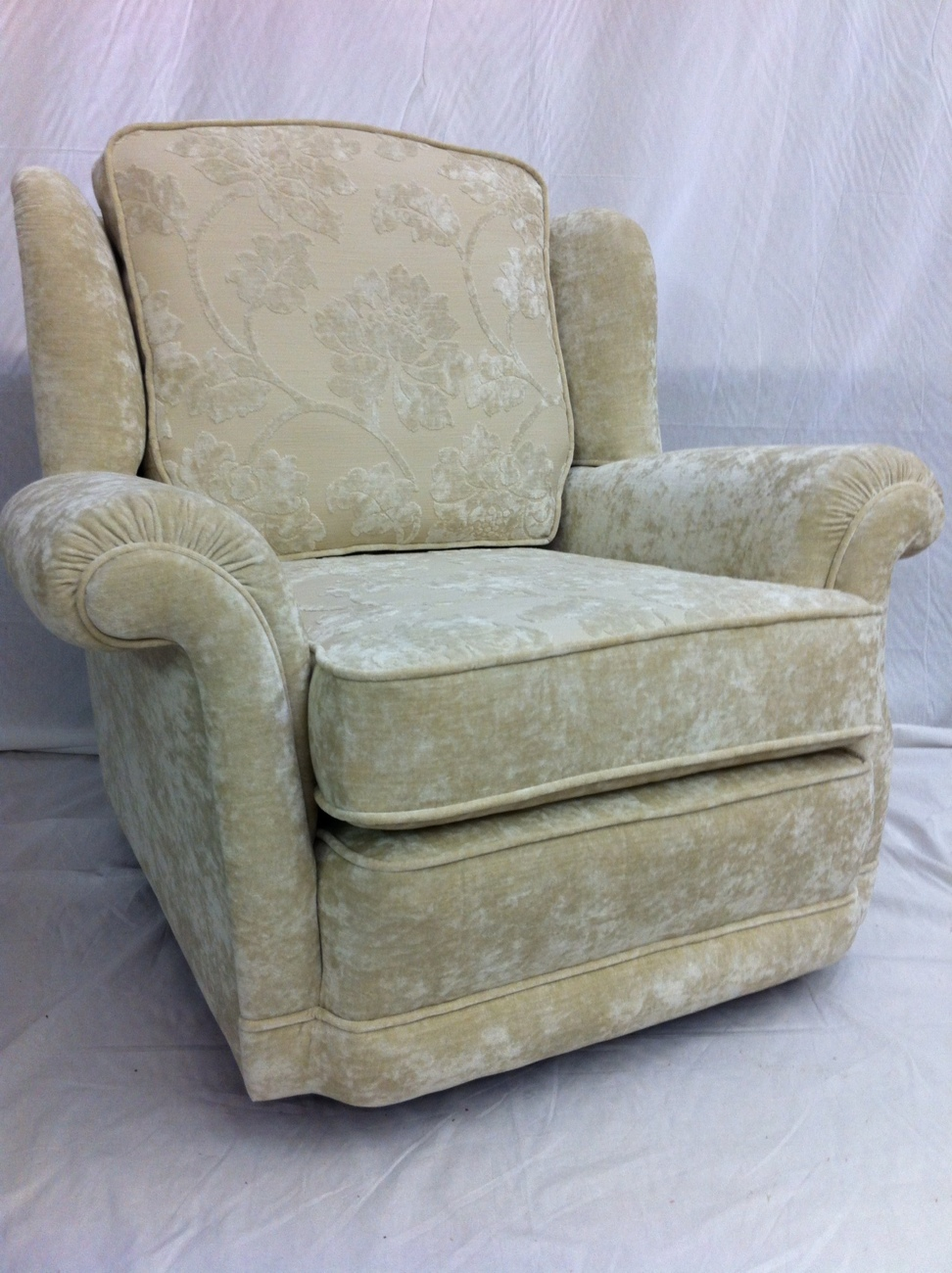 Reupholstery Of Bridgecraft Chair In Ross Belvedere