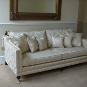 Ralvern ltd Sofa Trafalgar Design shown in Ross a Fabrics Damask