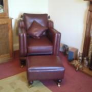 Trafalgar chair and footstool