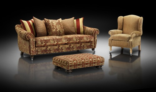 Sofas made by Ralvern Ltd Cannock Christina Marrone Fabrics