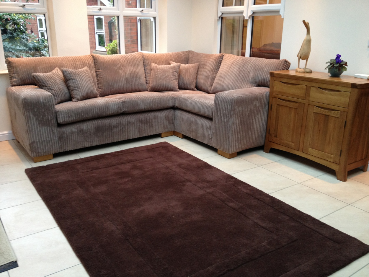 Corner sofa made by Ralvern ltd in Cannock made to order and size