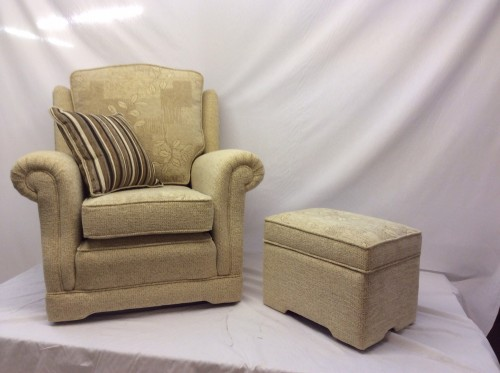 Ascot Arm Chair & Footstool