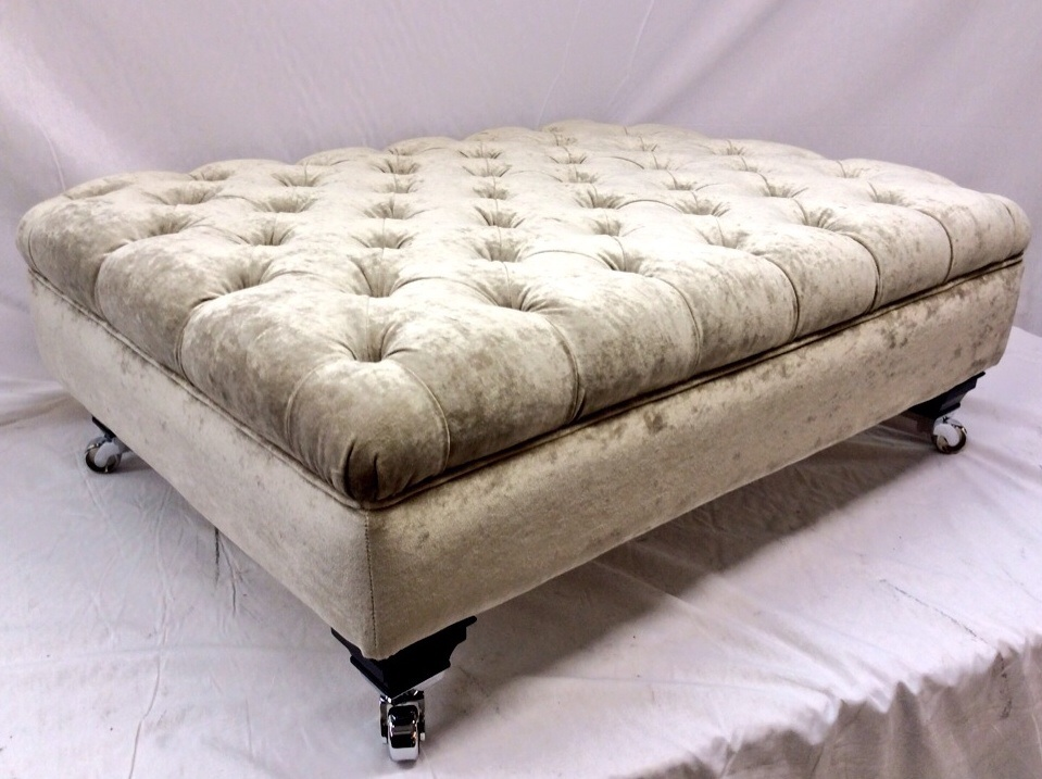 Large Deep Buttoned Lifestyle Footstool