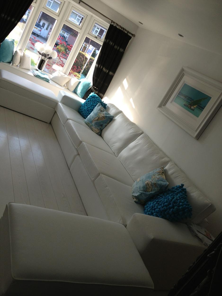 Bespoke Monaco extra large sofa Design White Leather