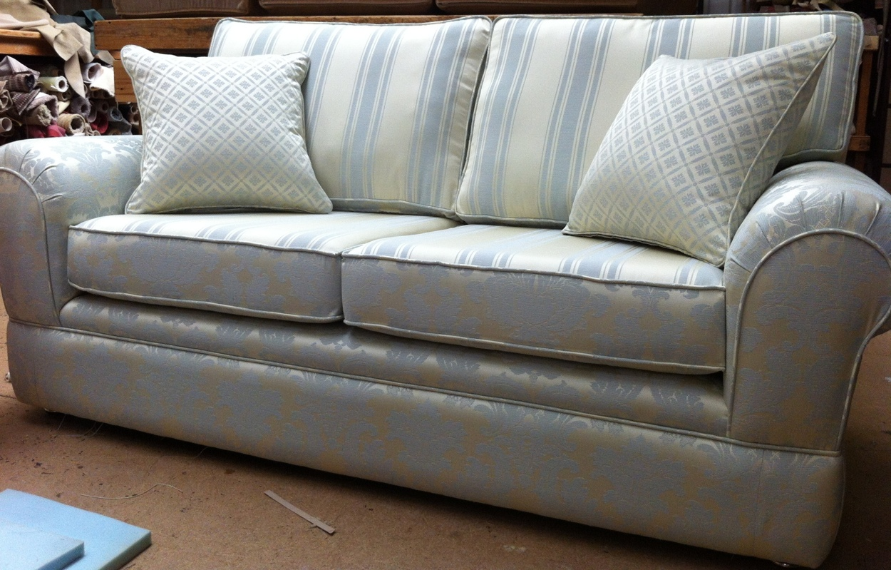 Laura Ashley Sofa Re Designed using Quality Foams interiors and finish Reupholstery