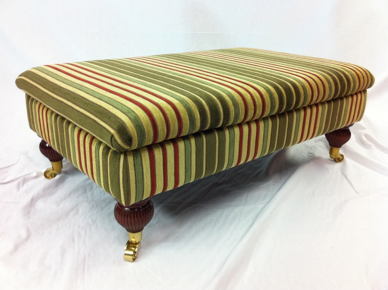 Foot stool by Ralvern Cannock Sofa Makers Upholstery