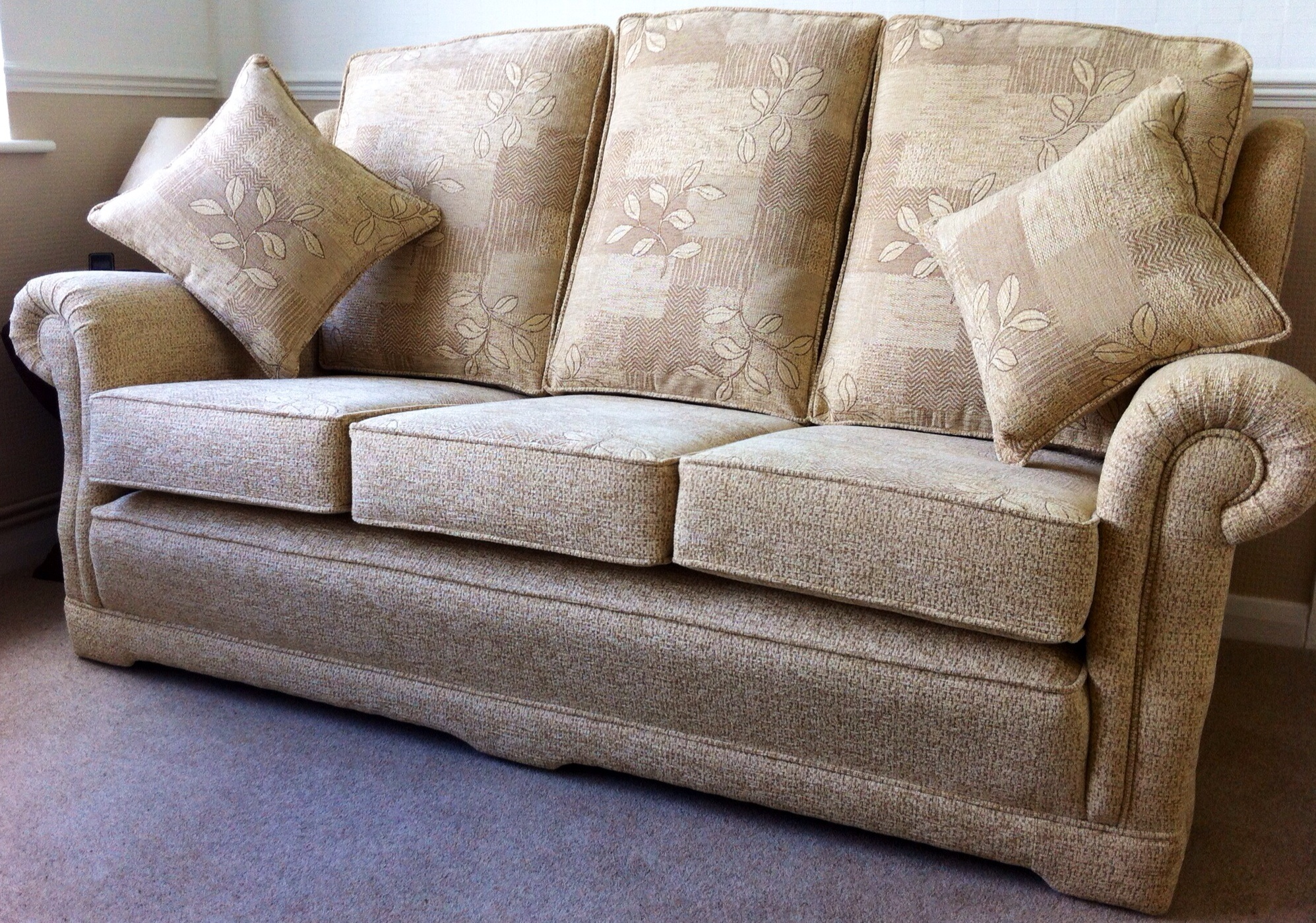 The Ascot Three Seater Sofa in J.Singleton Draylon ® Chenille